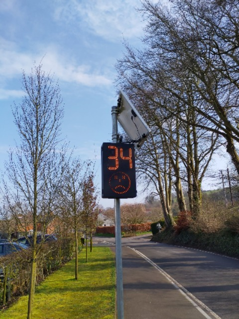 Speed indicator device