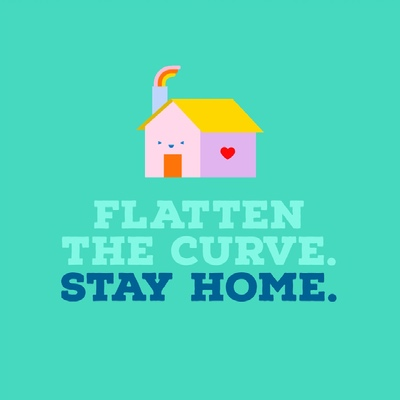 Stay home graphic