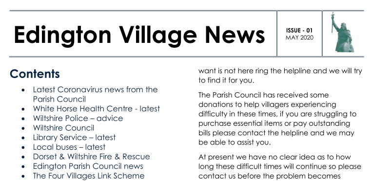 Extract of Edington Parish News